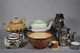 Collection of 19th C. Ironstone and Lustreware Pieces