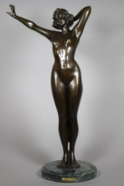20th Century Bronze Nude Statue