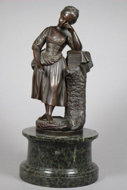 20th Century Bronze French Statue Of Women