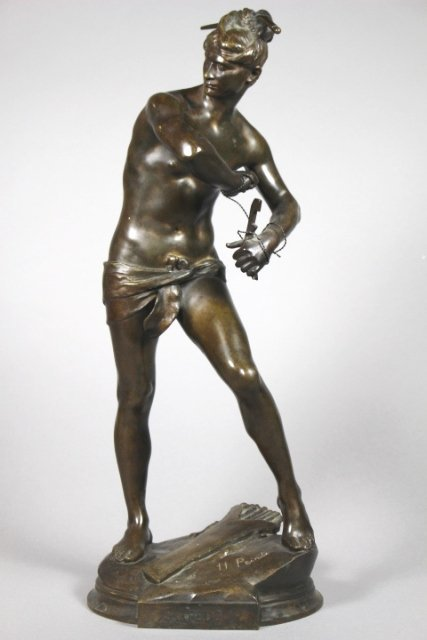 Bronze Sculpture Of Sarpedon By Henri Peinte