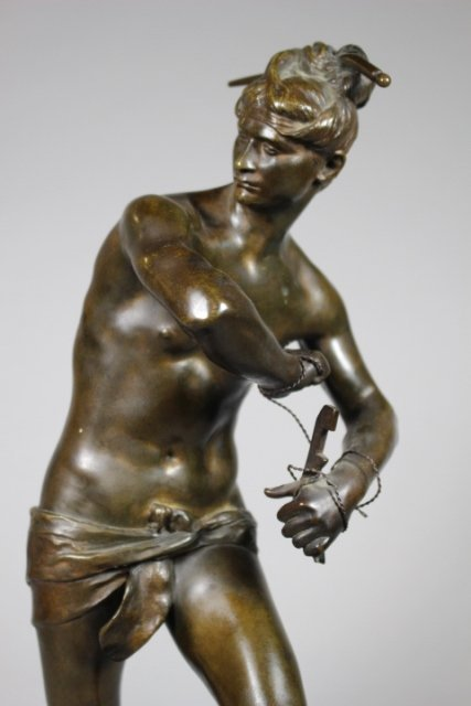 Bronze Sculpture Of Sarpedon By Henri Peinte - 2