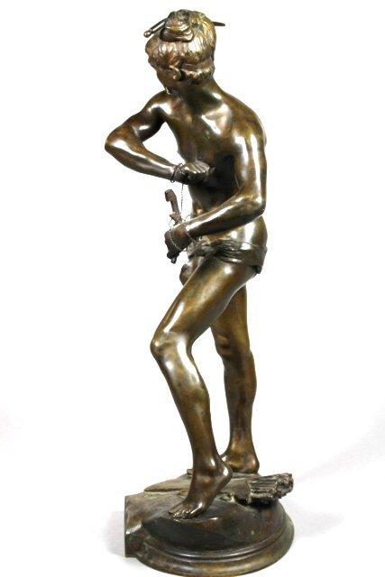 Bronze Sculpture Of Sarpedon By Henri Peinte - 5