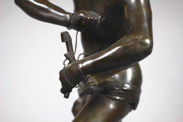 Bronze Sculpture Of Sarpedon By Henri Peinte - 6
