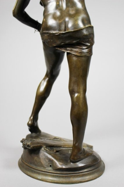 Bronze Sculpture Of Sarpedon By Henri Peinte - 8