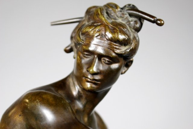 Bronze Sculpture Of Sarpedon By Henri Peinte - 9