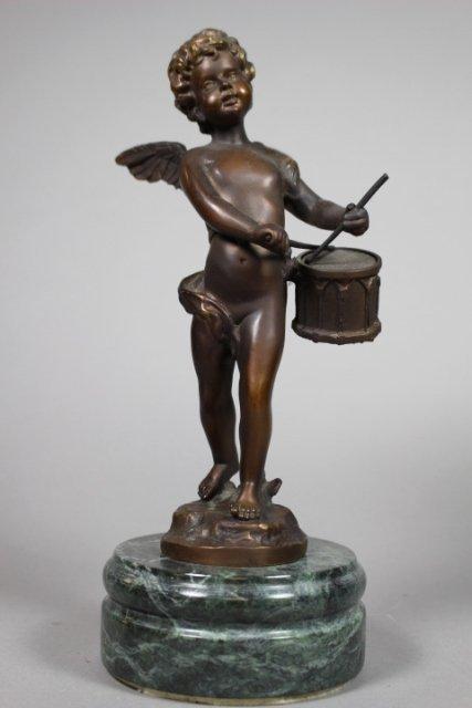 August Moreau Bronze Cherub Figure