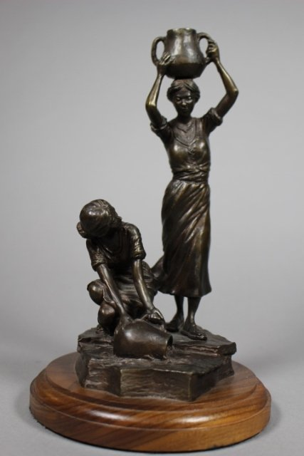 Contemporary Bronze Statue By Robert Summers