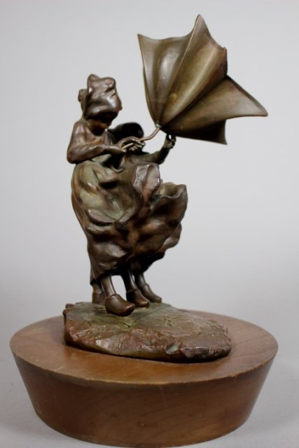 19th Century La Monaca Bronze Sculpture