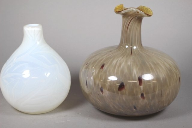 Two Contemporary Glass Vases - 2