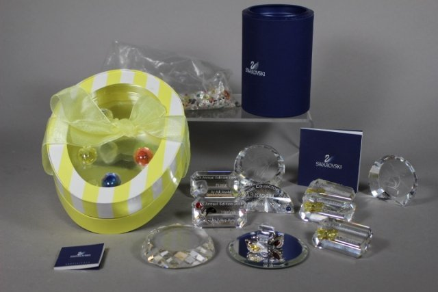 Collection Of Swarovski Crystal Plaques And Easter Eggs