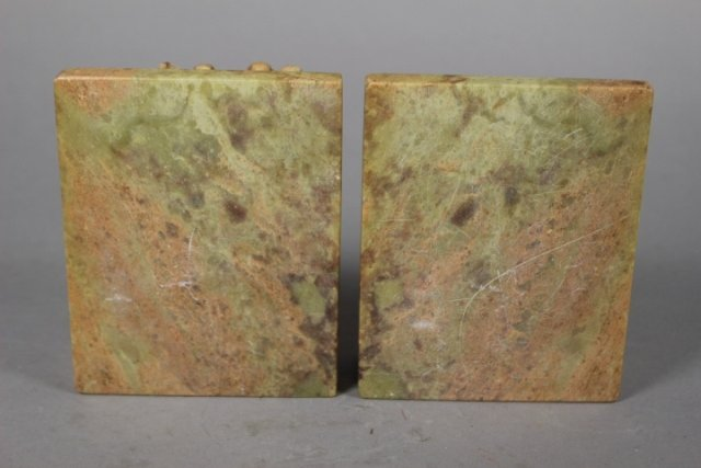 Pair Of Chinese Soapstone Carved Bookends - 3