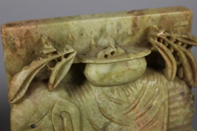 Pair Of Chinese Soapstone Carved Bookends - 5