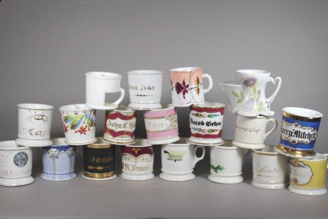 Collection Of 19 Shaving Mugs ( 2 Kerns & 1 T&V All