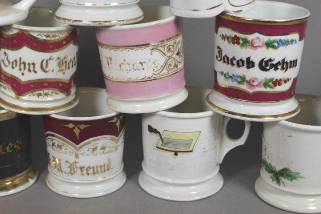 Collection Of 19 Shaving Mugs ( 2 Kerns & 1 T&V All - 3