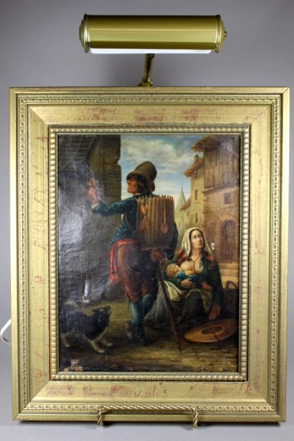 19th Century Dutch Oil on Canvas Signed and Dated