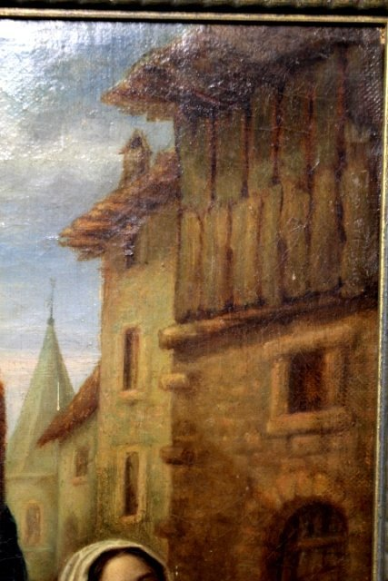 19th Century Dutch Oil on Canvas Signed and Dated - 7