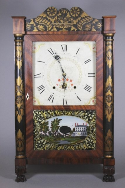 Eli Terry Empire Shelf Clock With Wood Works