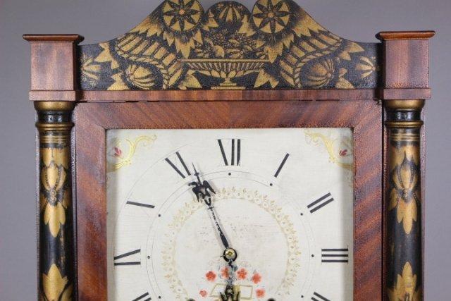 Eli Terry Empire Shelf Clock With Wood Works - 2