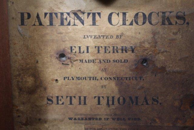Eli Terry Empire Shelf Clock With Wood Works - 5
