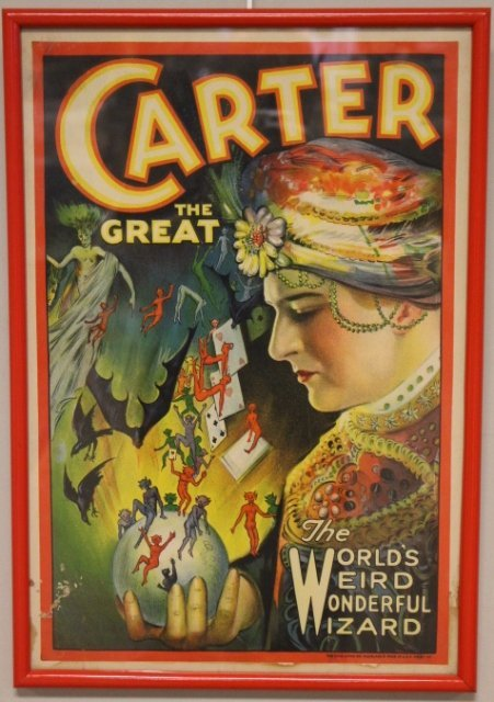 1920's Carter The Great Magic Poster