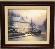 Thomas Kinkade Canvas Print Victorian Christmas VI