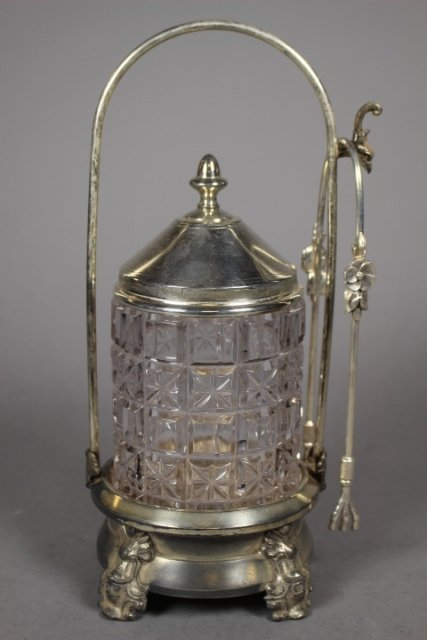 Ornate Silver-plate Victorian Pickle Castor