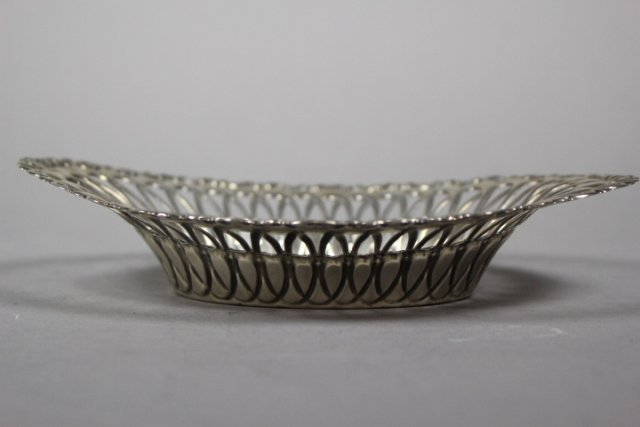 Sterling Silver Reticulated Serving Dish - 2