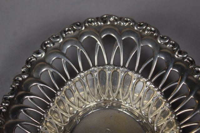 Sterling Silver Reticulated Serving Dish - 3