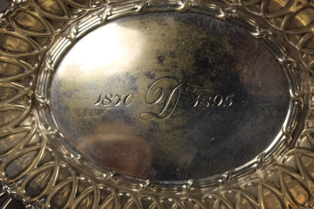 Sterling Silver Reticulated Serving Dish - 4