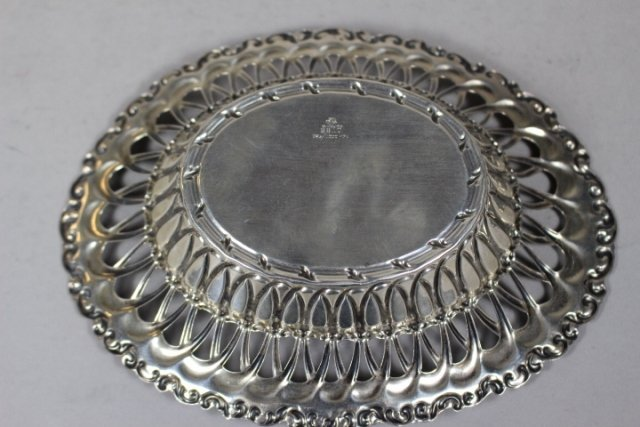 Sterling Silver Reticulated Serving Dish - 5