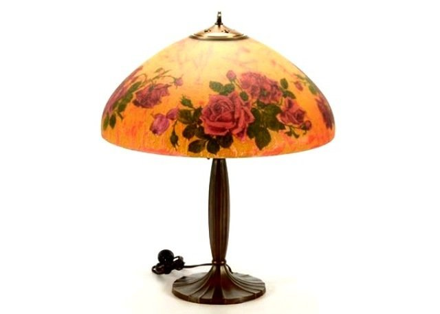 Signed Handel 7105 S Reverse Painted Lamp