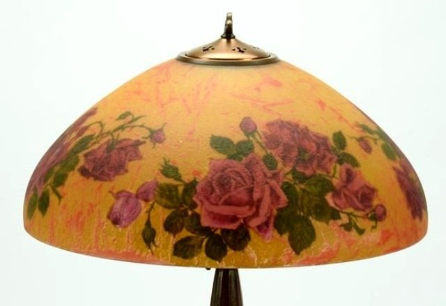 Signed Handel 7105 S Reverse Painted Lamp - 2