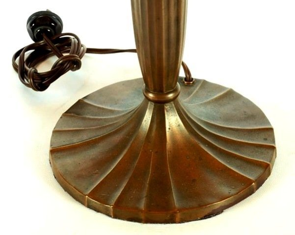 Signed Handel 7105 S Reverse Painted Lamp - 3