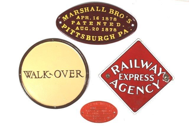 20th Century Builder's Plates and Wall Signs