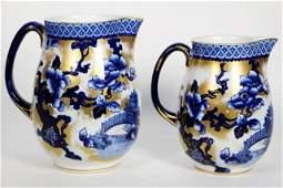 19th Century Keeling Porcelain Losol Ware Jugs