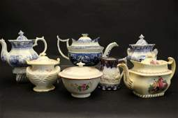 Collection of Staffordshire Ironstone Teapots and