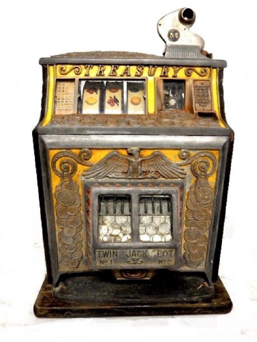 Watling Treasury Twin Slot Machine Ca. 1930's