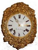 French Brass Morbier  Wag Clock 19th C