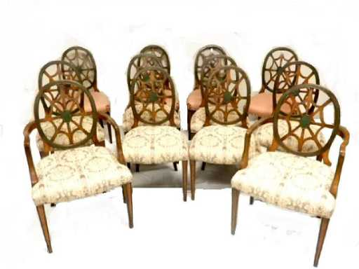 About A Chair 12 Side Chair.Set Of 12 Spider Back Hepplewhite Dining Chairs