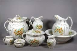 Victorian Porcelain Eight Piece Chamber Set
