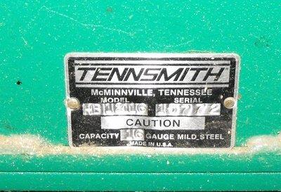 TENNSMITH HB 12116 SHEET METAL BENDING BRAKES - 3
