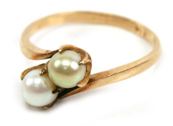 15A: 14K YELLOW GOLD & PEARL RING