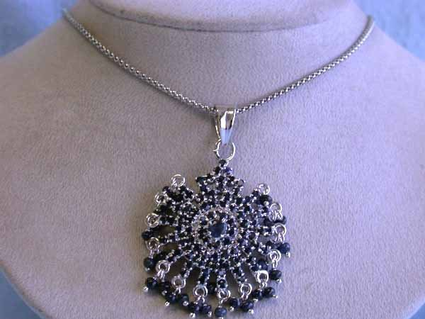 10: Silver and Sapphire Necklace
