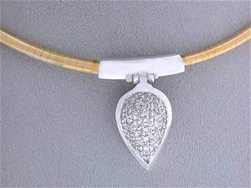 89: 18k Gold Diamond Necklace