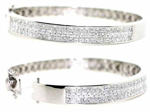 5: 14K White Gold Bracelet w/ Diamonds