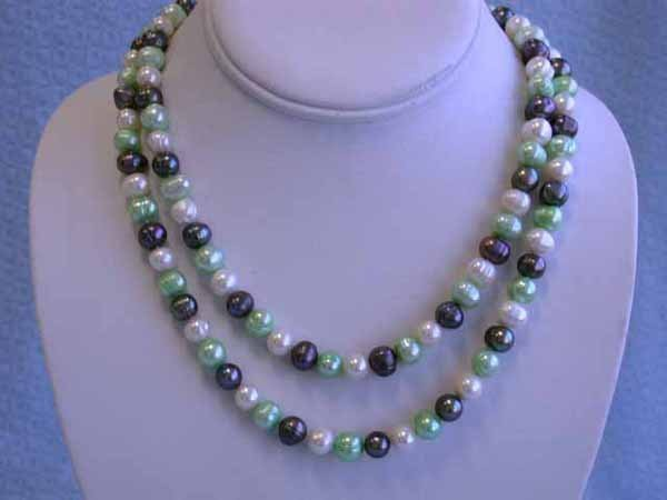 505: Multi-colored Fresh Water Pearl Necklace