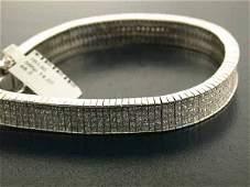 573: 14k White Gold Diamond Bracelet