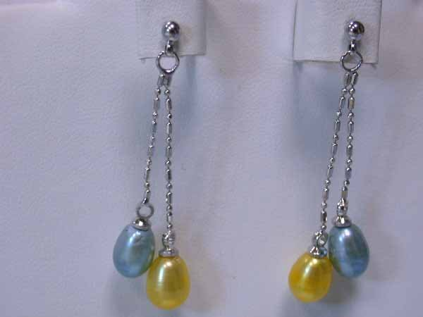5: Dangling Pearl and Silver Earrings