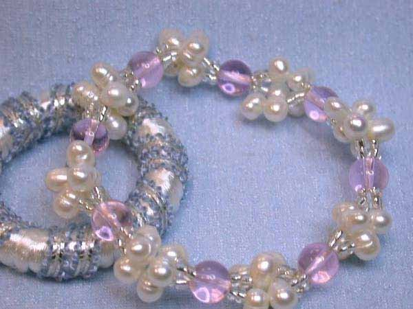 15: Fresh Water Pearl and Colored Gemstone Bracelet