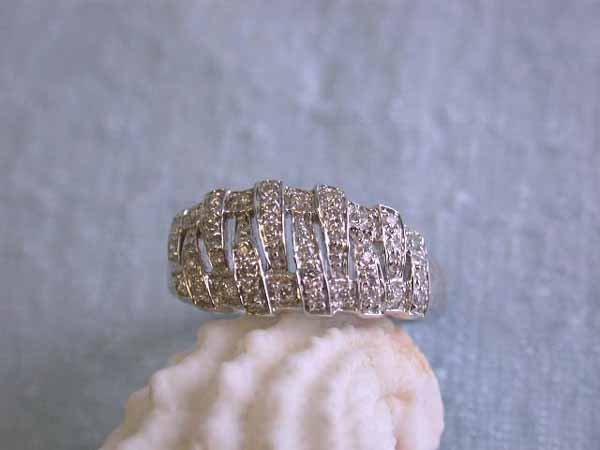 17: 14k Gold Ring with Diamonds